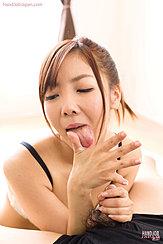 Yoshida Mio Licking Cum From Her Hand