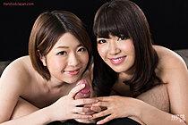 Kurihara Aoi And Momota Mayuka Give Handjob And Lick Cum Fingers