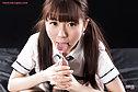 Student Araki Mai giving handjob in uniform licking cum fingers