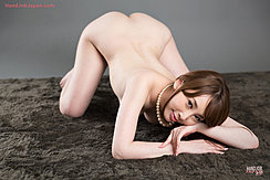 Kisaki Aya Face Down And Ass Up Nude In Pearl Necklace