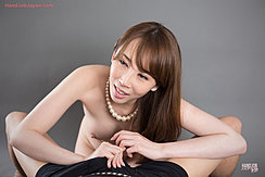 Kneeling Nude In Pearl Necklace Long Hair Teasing Cock Through Shorts
