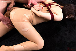 Oguri Miku On Her Front Naked Her Arms Bound Behind Her Back Man Rubbing His Cock Against Her Ass In Pantyhose