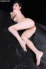 Lying Nude Looking Over Her Shoulder Bare Ass Long Legs Bare Feet
