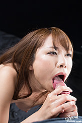 Looking Up Waiting To Receive Cum In Her Mouth