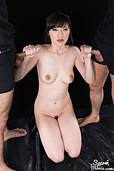 Yurikawa Sara On Her Knees Naked Giving Handjobs Nice Breasts