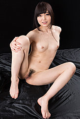 Seated Naked Small Breasts Knees Drawn Up Legs Open Showing Her Pussy Bare Feet