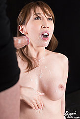 Cum Running Down Her Chin Onto Her Breasts