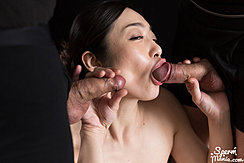 Lips Wrapped Around Head Of Erect Cock Stroking Semi Erect Cock