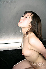 Kanzaki Sora Kneeling Nude With Hands Bound Behind Her Back Saliva Dripping From Mouh Bare Breasts