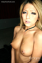 Tanned Kiryu Sakura Posing Topless Saliva Dripping From Mouth Firm Breasts With Erect Pointed Nipples
