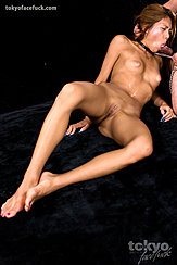 Lying Naked Sucking Cock Small Tits With Puffy Nipples Legs Spread Bare Feet