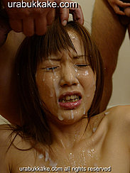 Man Cumming Over Her Face Thick Cum Running Down Her Cheek