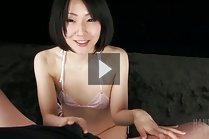 Small titted Toda Arisa on her knees giving handjob