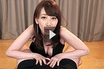Busty Kisaki Aya Giving Handjob In Black Dress
