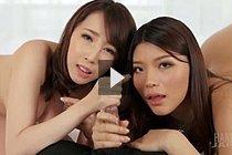 Kisaki Aya And Ishihara Misato Giving Handjob Together Nude